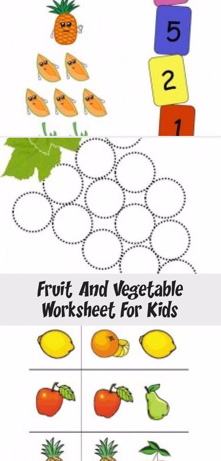 Fruit And Vegetable Worksheet For Kids Crafts And Worksheets For Preschool Toddler And Kindergarten Toyswo In 2020 Worksheets For Kids Crafts For Kids Diy Kids Toys [ 1560 x 750 Pixel ]