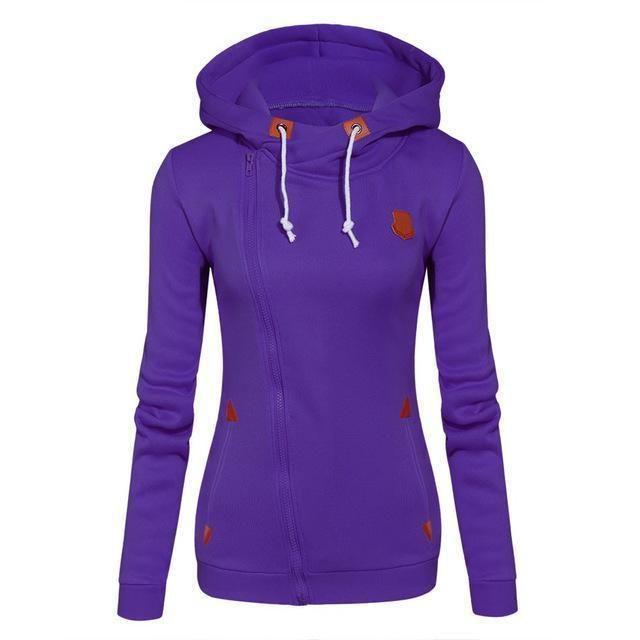 Women Fashion Fleeces Zippered Sweatshirt / Hoodie 3