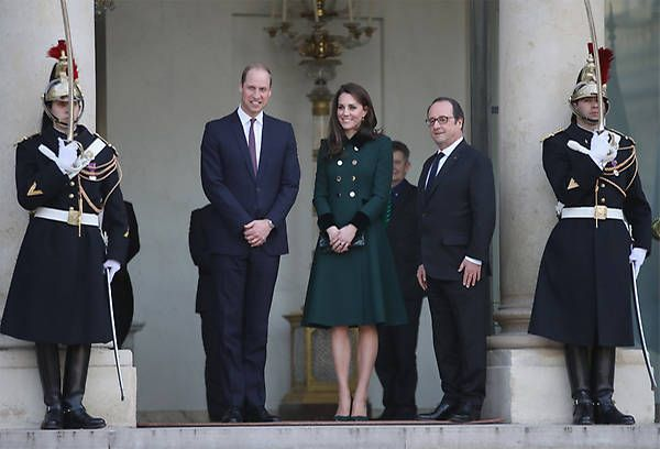 Los Duques de Cambridge visita París