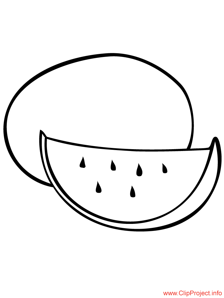 Water Melon Image To Coloring For Free Fruit Coloring Pages Melon Watermelon