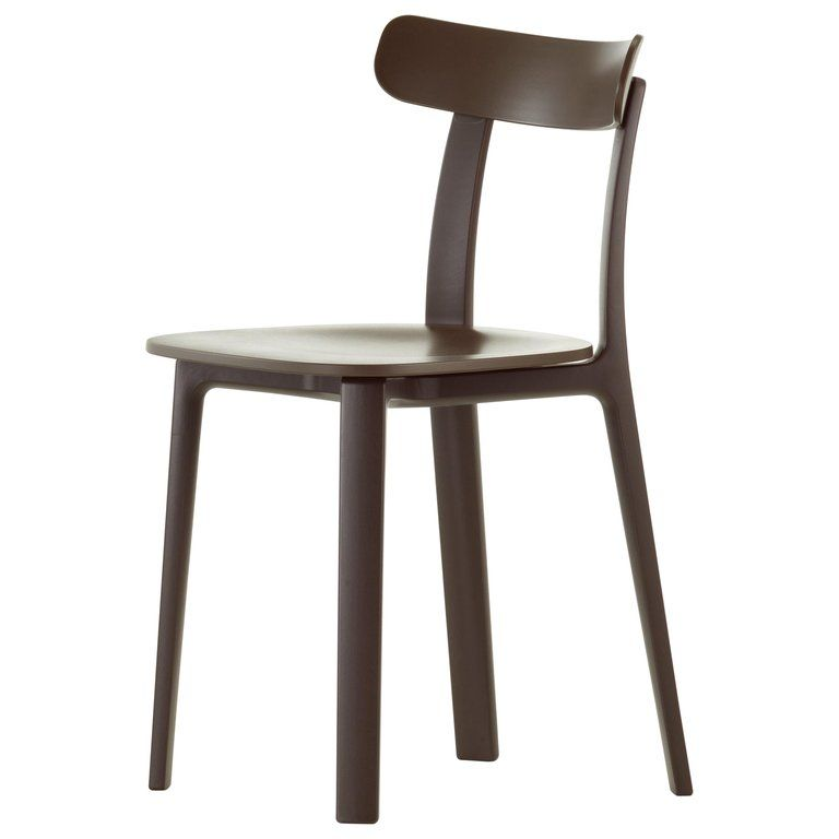 Photo of Vitra All Plastic Chair in Brown Two-Tone by Jasper Morrison