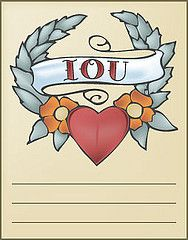Vintage Printable Tattoo Iou Voucher Templates Printable