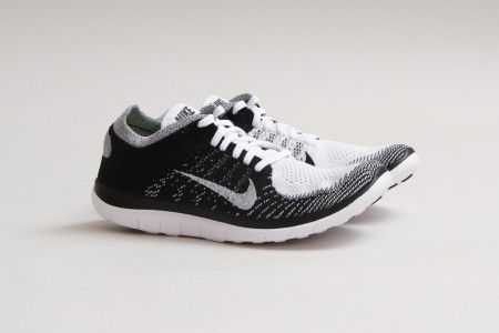 Nike Free Flyknit 4 0 White Black Volt Nike Free Flyknit Nike Shoes Women Nike Free