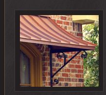 copper metal awnings wonder what they cost if there would be a