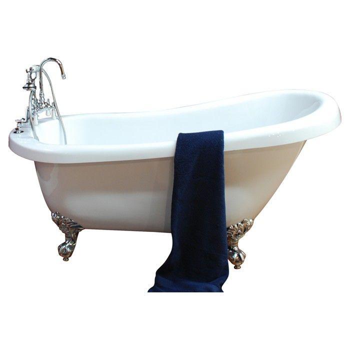 Cambridge Plumbing 68 25 X 31 Claw Foot Slipper Tub Bathtub Soaking Bathtubs Clawfoot Bathtub