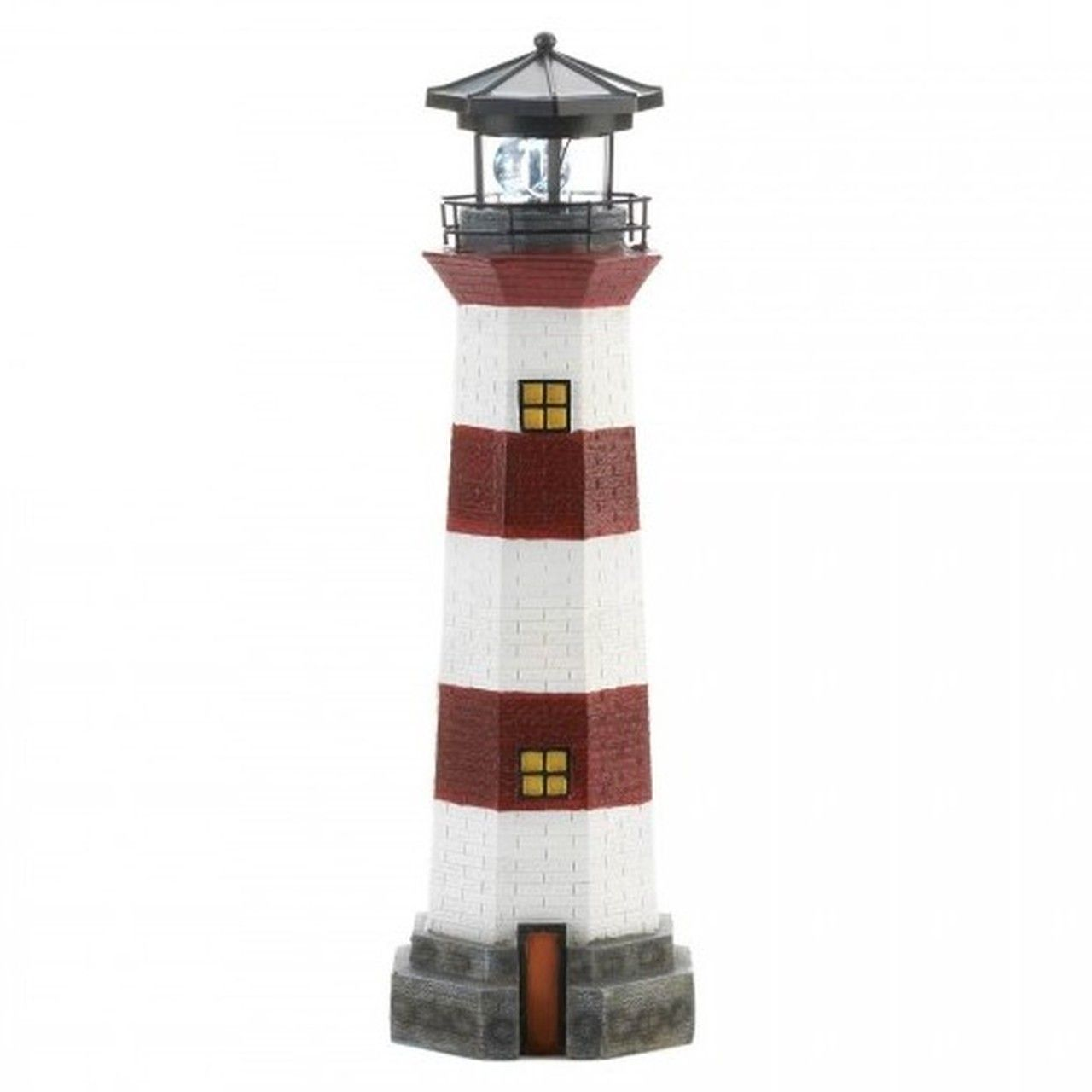 10-Lighthouse Garden Decor with Solar-Powered Spinning