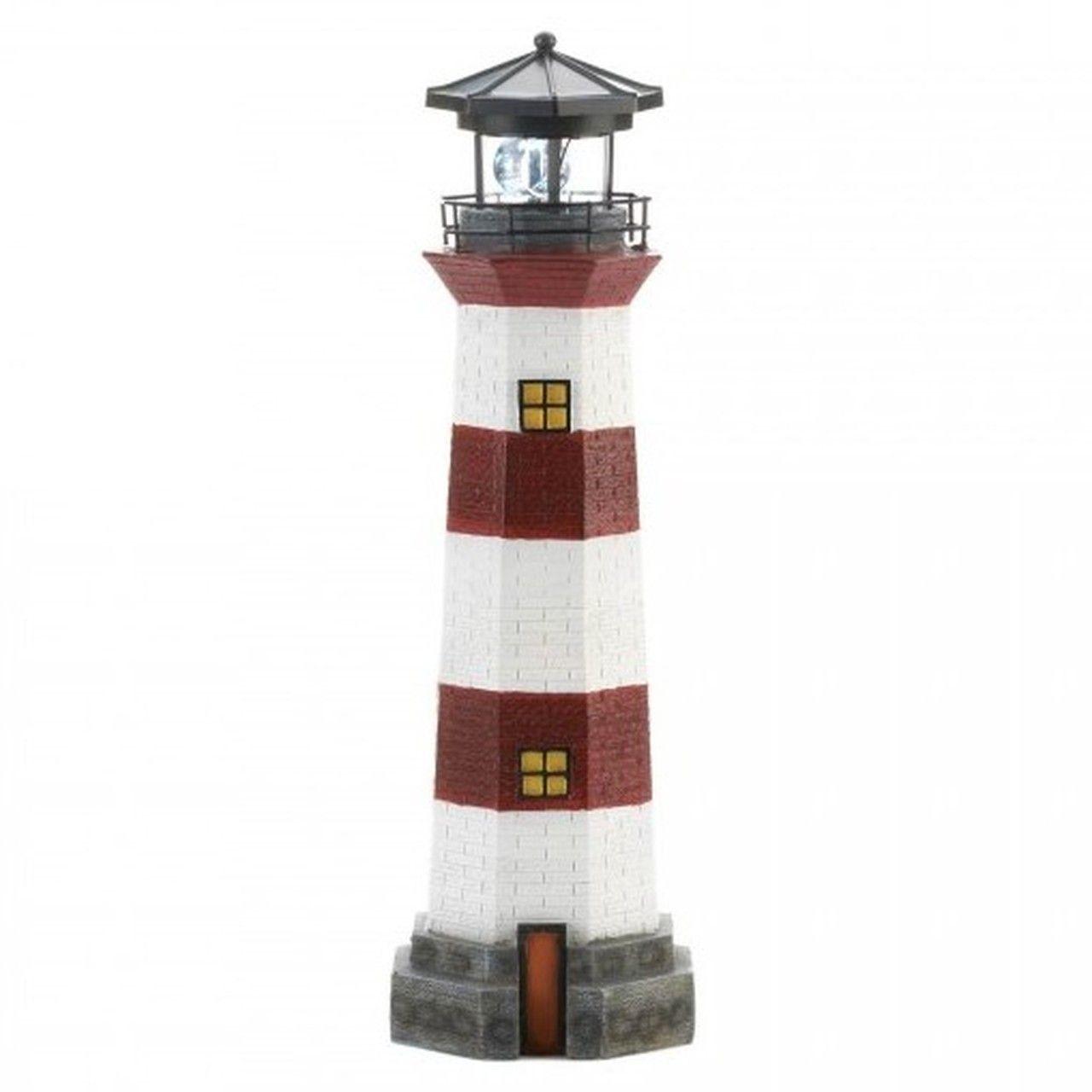 Lighthouse Garden Decor With Solar Powered Spinning Light