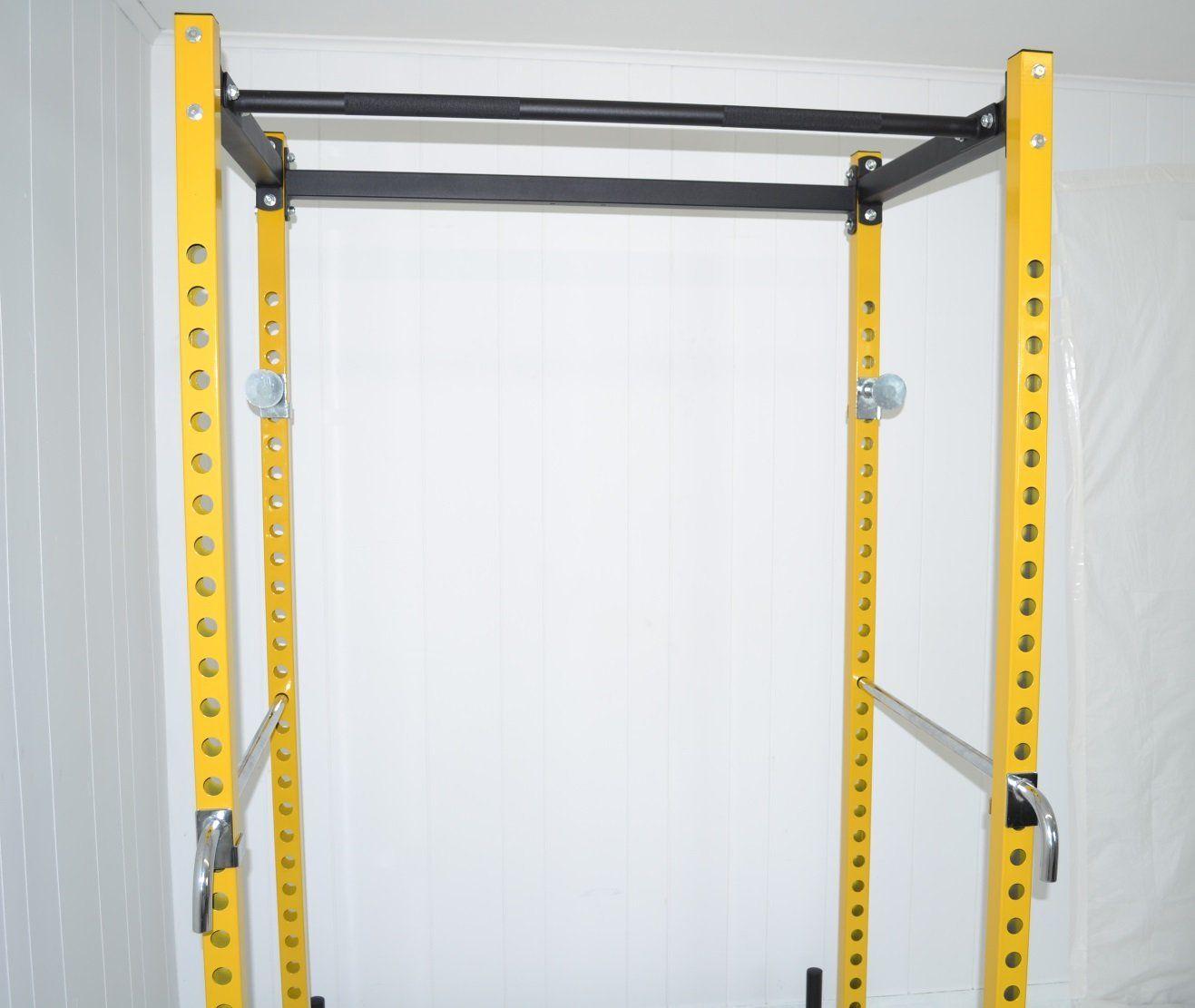 Yellow black atlas power rack squat deadlift cage with