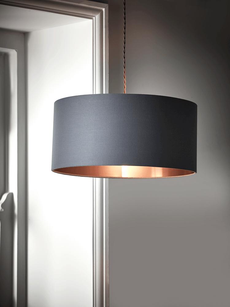 Grey Copper Shade Ceiling Lights Living Room Bedroom Light