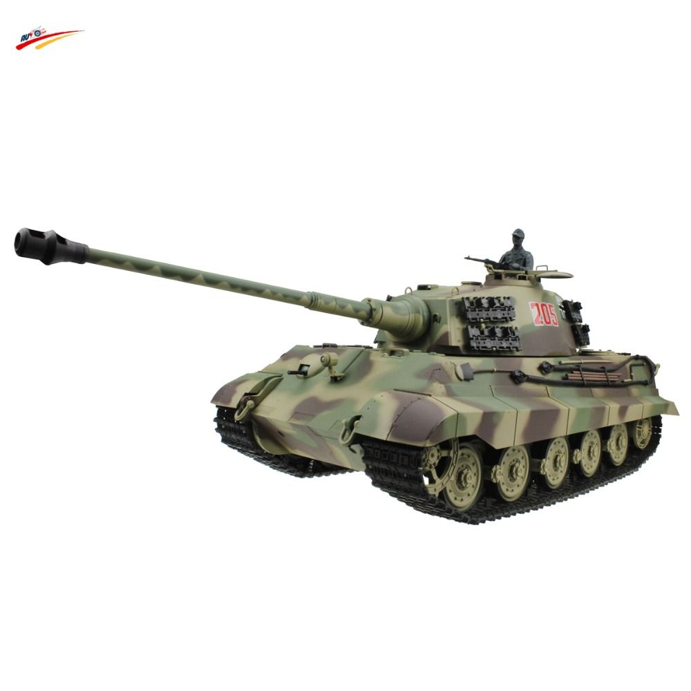 RC Tank 2 4G 1/16 German King Tiger Henschel Turret Airsoft RC
