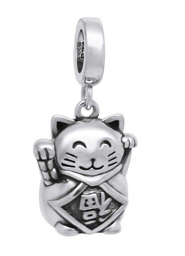 53f5633d525 Berloques Prata e Joias - Comprar Berloque em Prata Berloque de prata gato  da
