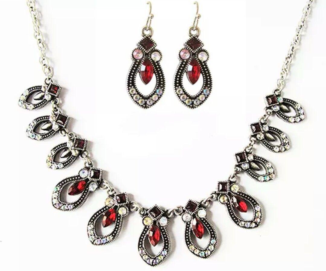Red rhinestone romantic pendant as a wedding anniversary giftn