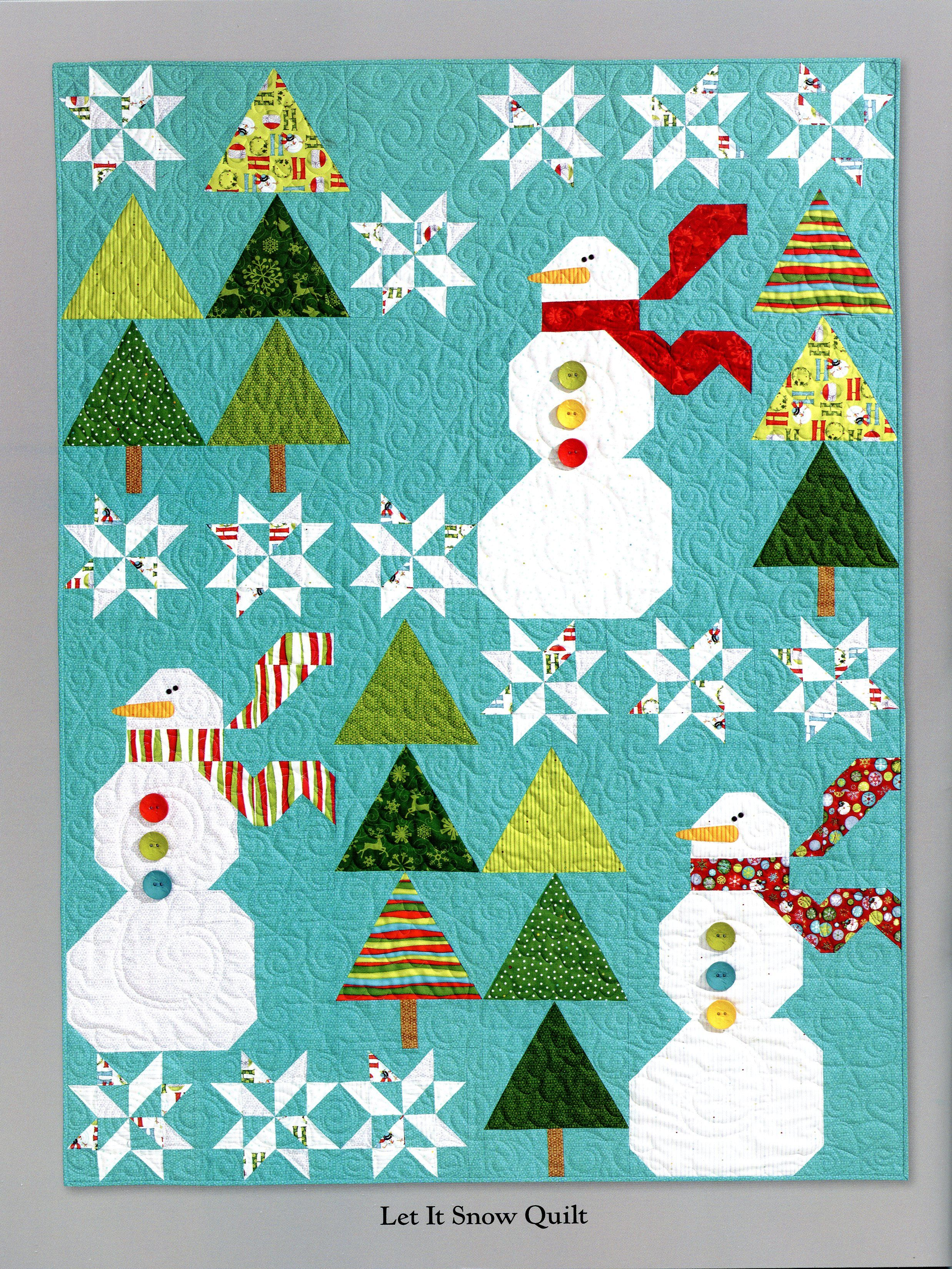 Ho Ho Ho Let It Snow quilt by Nancy Halvorsen. Seen at Hill Creek ... : snow quilts - Adamdwight.com