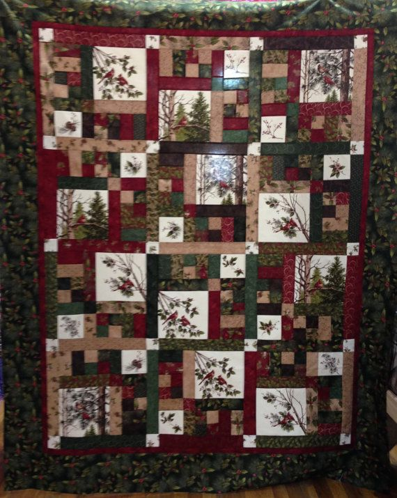 Northern Cardinal Quilt Kit pattern by Doug Leko featuring Holly ... : quilt panel kits - Adamdwight.com