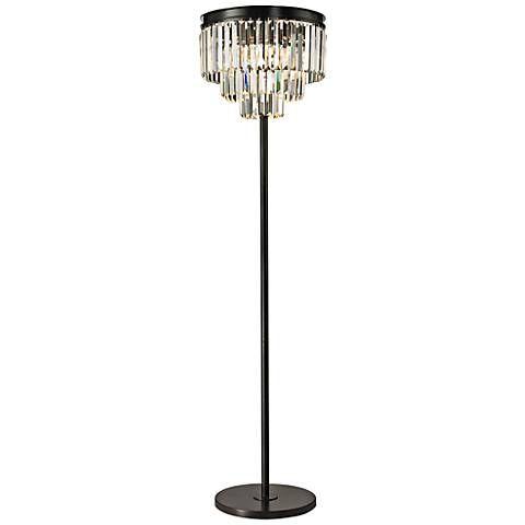 Palatial 62 High Crystal Floor Lamp 7p985 Lamps Plus Chandelier Floor Lamp Crystal Floor Lamp Crystal Floor