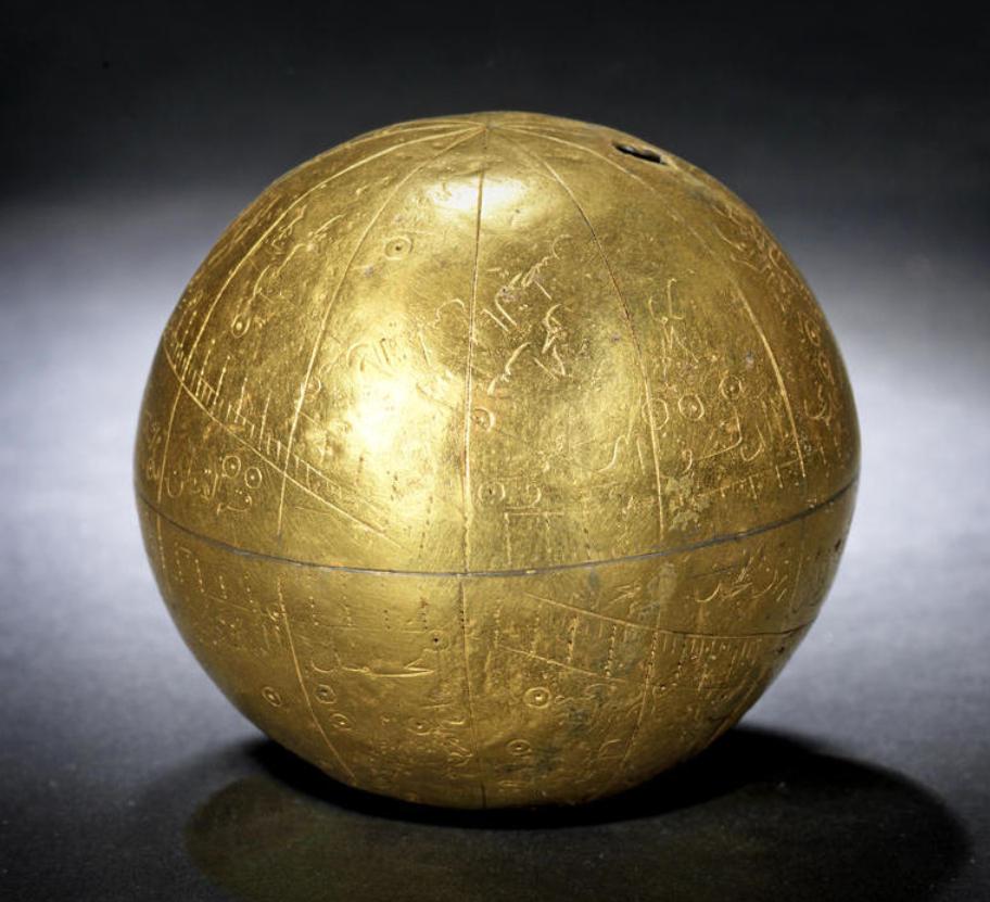 A rare and unique Zand silver-gilt Celestial Globe Persia ...