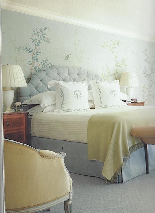 Suzanne Rheinstein Tufted Headboard Interior Interior Design