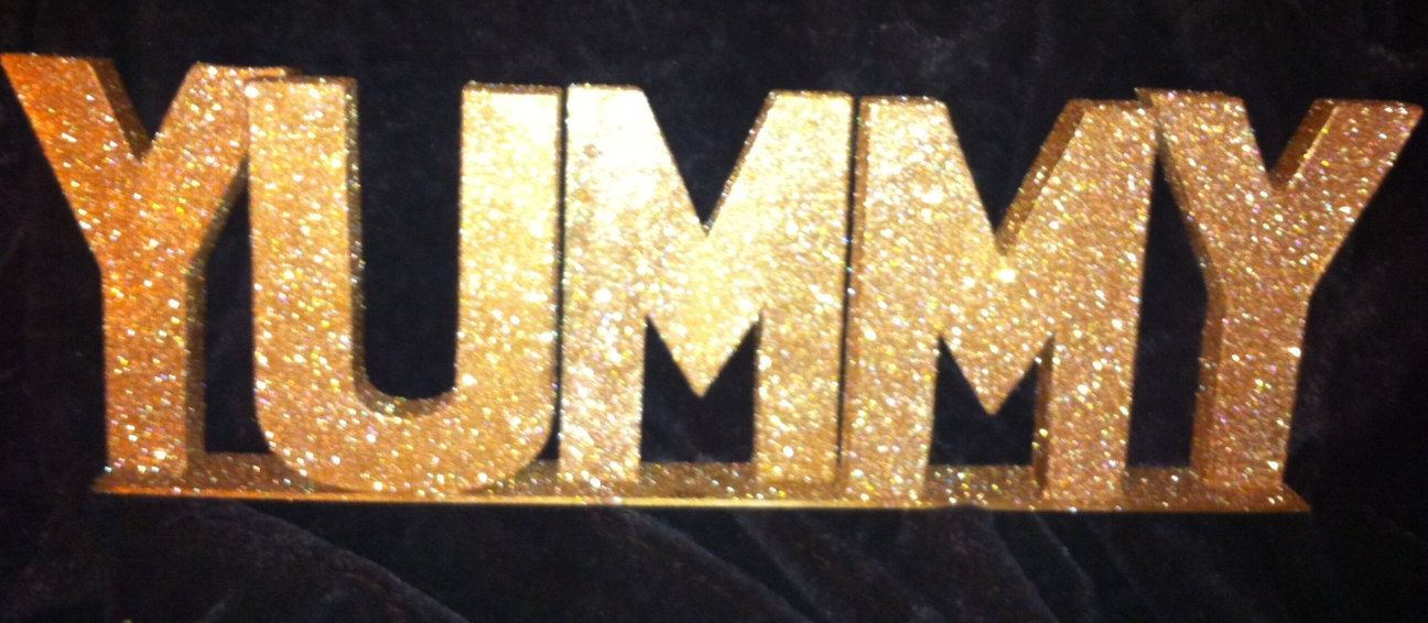 Ruby Gold Glitter Large Letters By Glamtastic 32 00 Glitter Wedding Decorations Glitter Letters Party Tablescapes