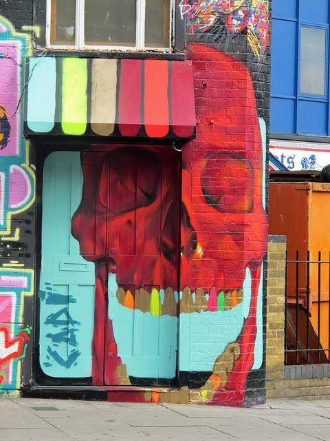 .skull calavera street art