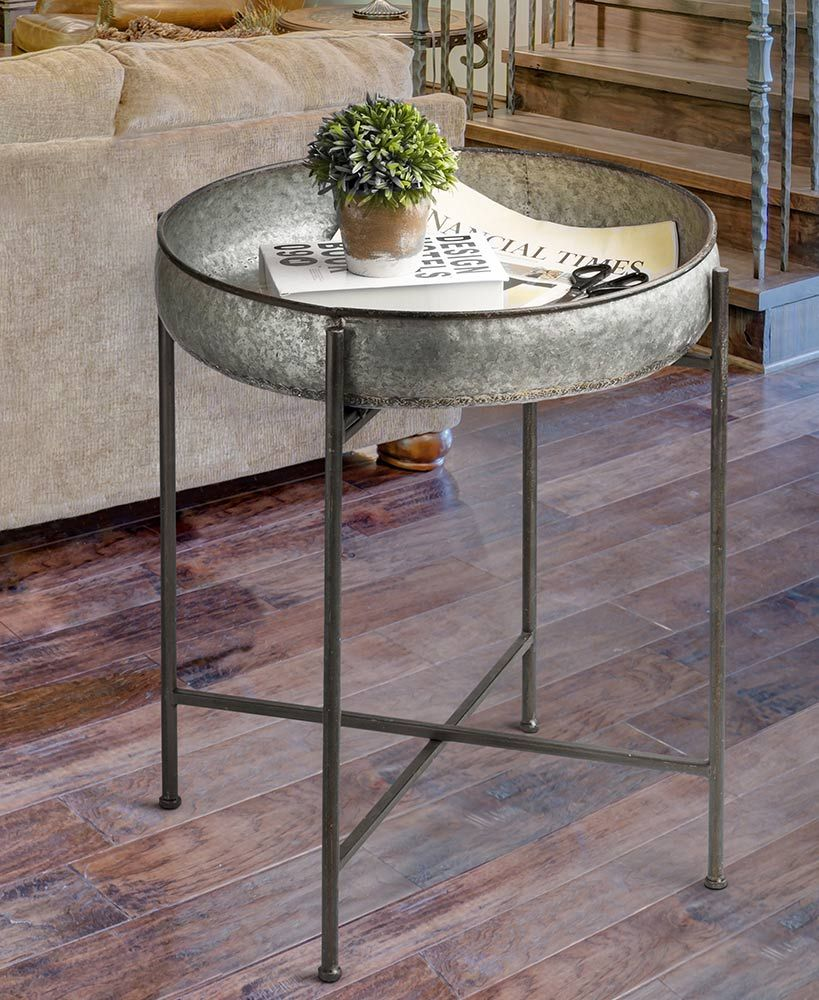 Best Galvanized Accent Table Cheap End Tables Accent Table 400 x 300