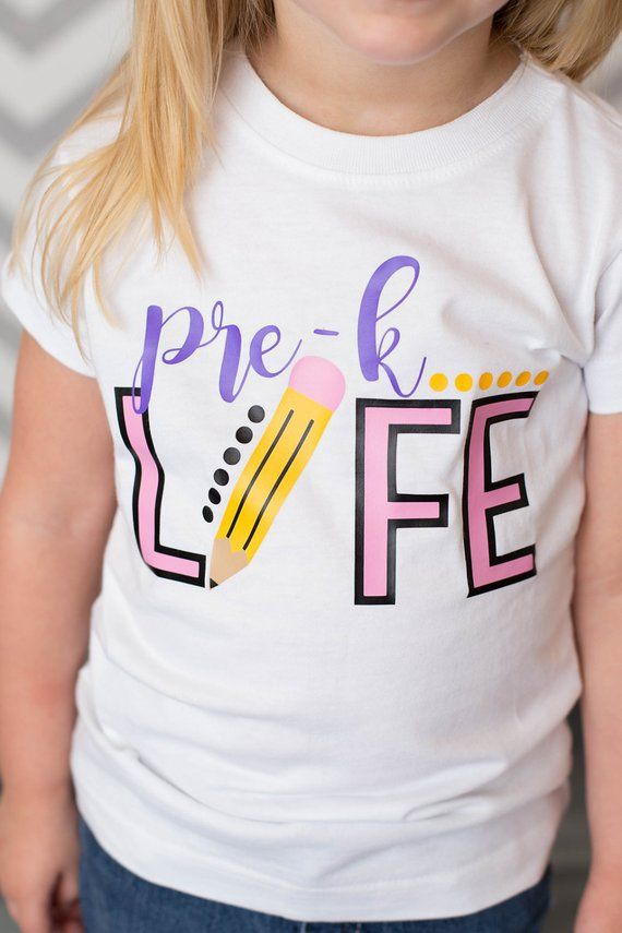 Pre-K Life Shirt or Bodysuit - (0-24 months)(2T-16) Girls - first day of school, pre k, preschool, 1st day of school, toddler