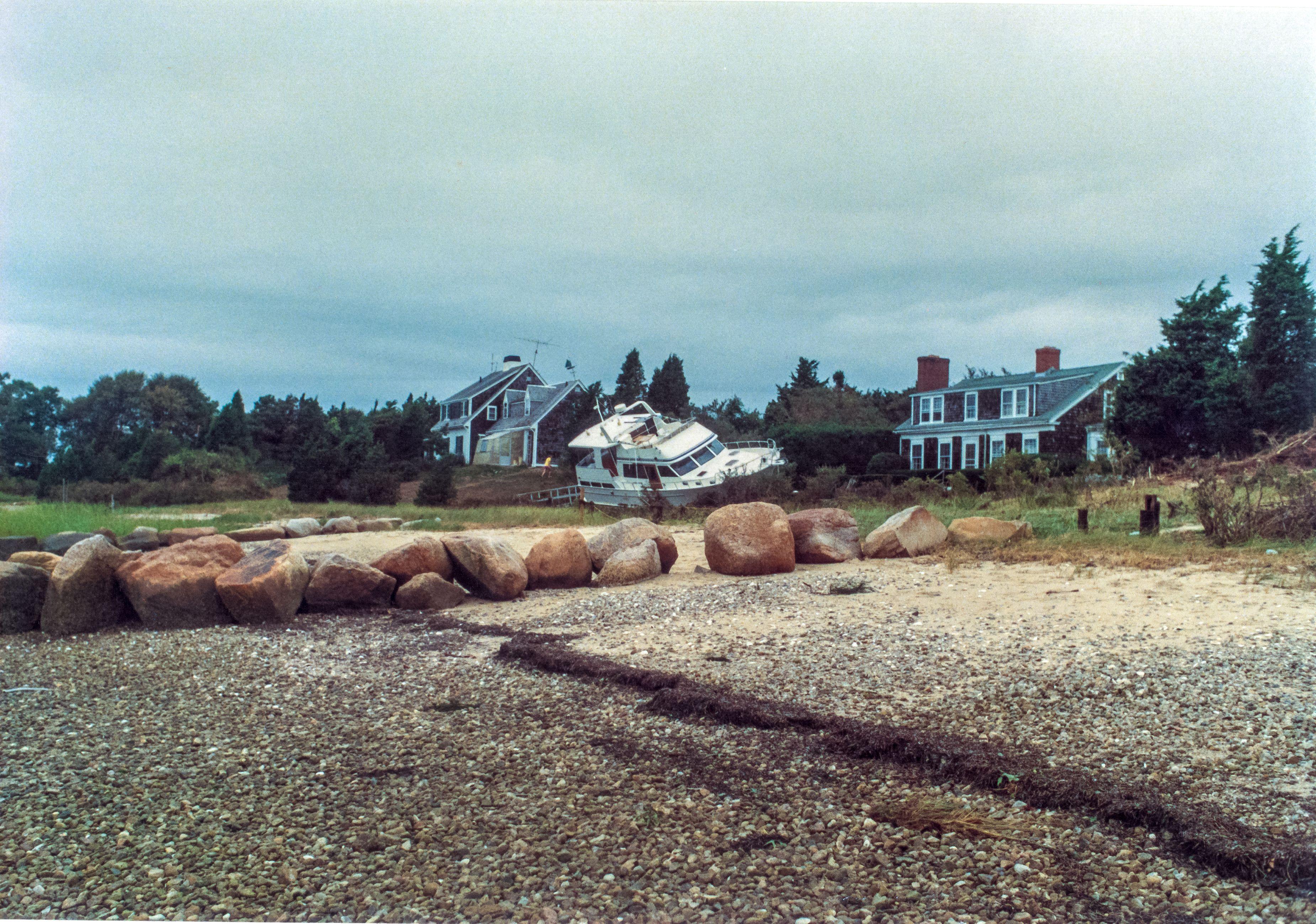 Hurricane Bob Aftermath Rocky Point Ship Aground Rocky Point Rocky Cape Cod Massachusetts