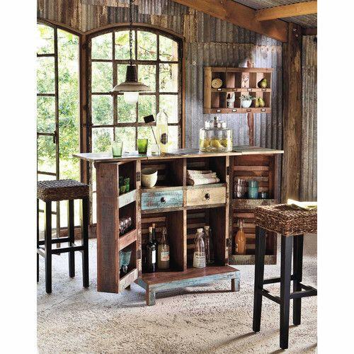 Assises | Bar en bois, Meuble bar et Maison du monde