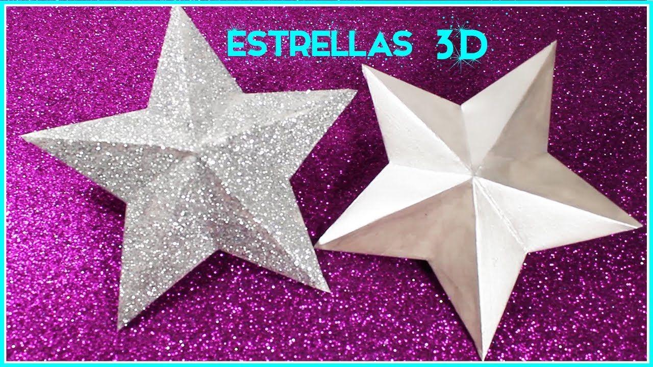 Estrella De Cartulina 3d Christmas Ornaments Simple Y Creativo Youtube Crafts Origami Diy