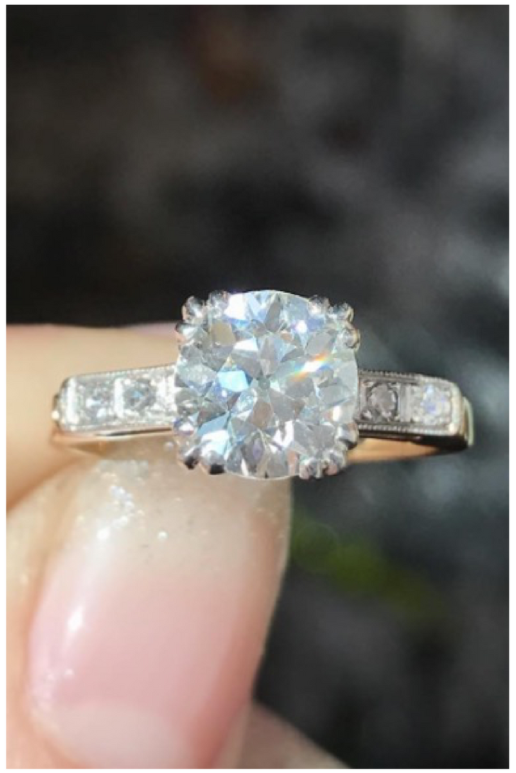 One of our latest vintage engagement rings find more beautiful