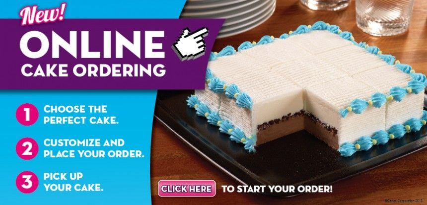 Carvel online cake ordering ice cream cake