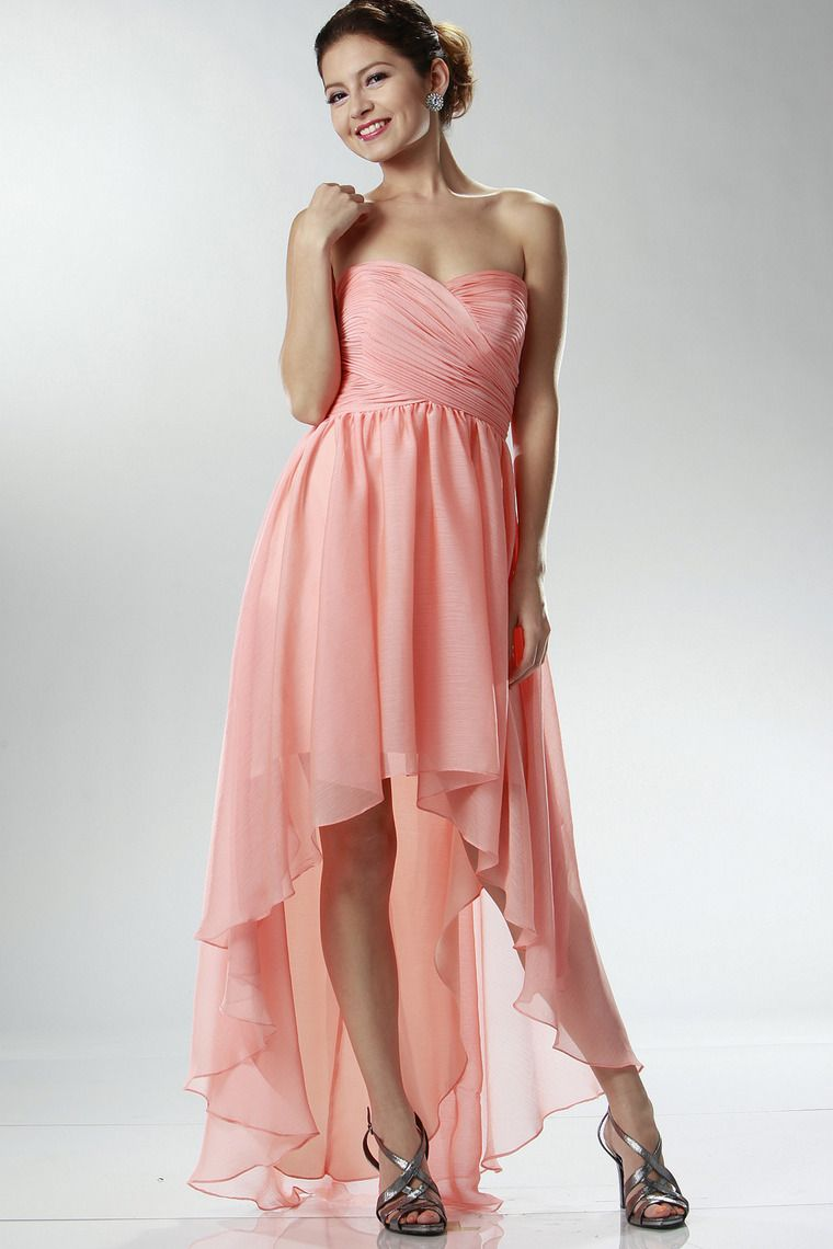 Fitted High Low Evening Dresses