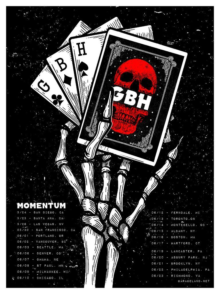 Gbh 2018 Tour Poster Tour Posters Music Concert Posters Gig