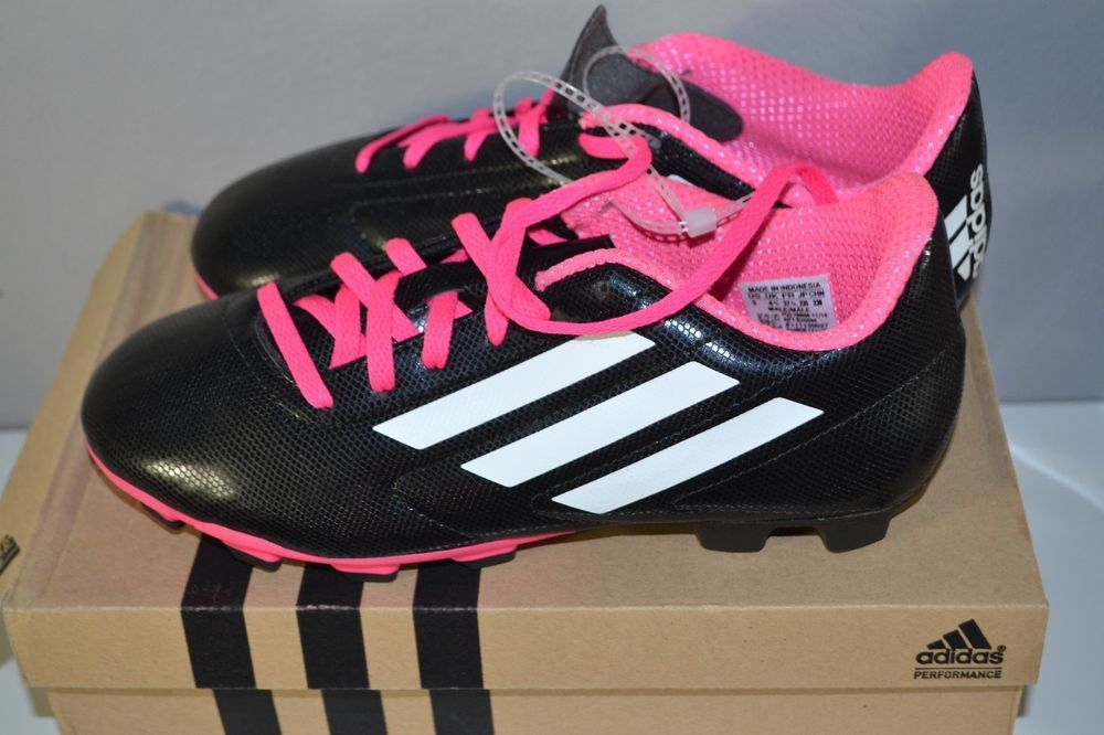 c577ecfbe NEW Adidas  Conquisto FG J Black Pink White  Soccer  Cleats Shoes Size 5  B25594  Adidas