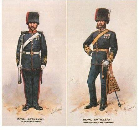 British; Royal Artillery Gunner 1856 & Officer 1864 by R.Simkin