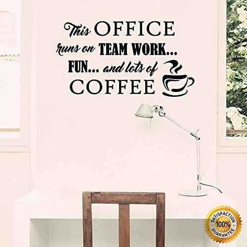 Ditooms Coffee Wall Decals Office Runs On Team Work Quotes ...