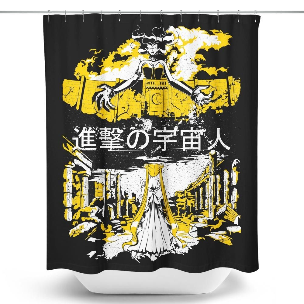 Attack On Moon Shower Curtain Products Sailor Moon Shirt Shirts Sailor Moon