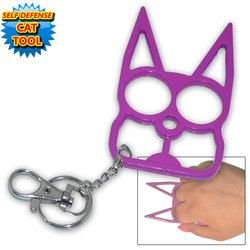 Look What I Found Gt Cat Self Defense Keychain Purple Cat