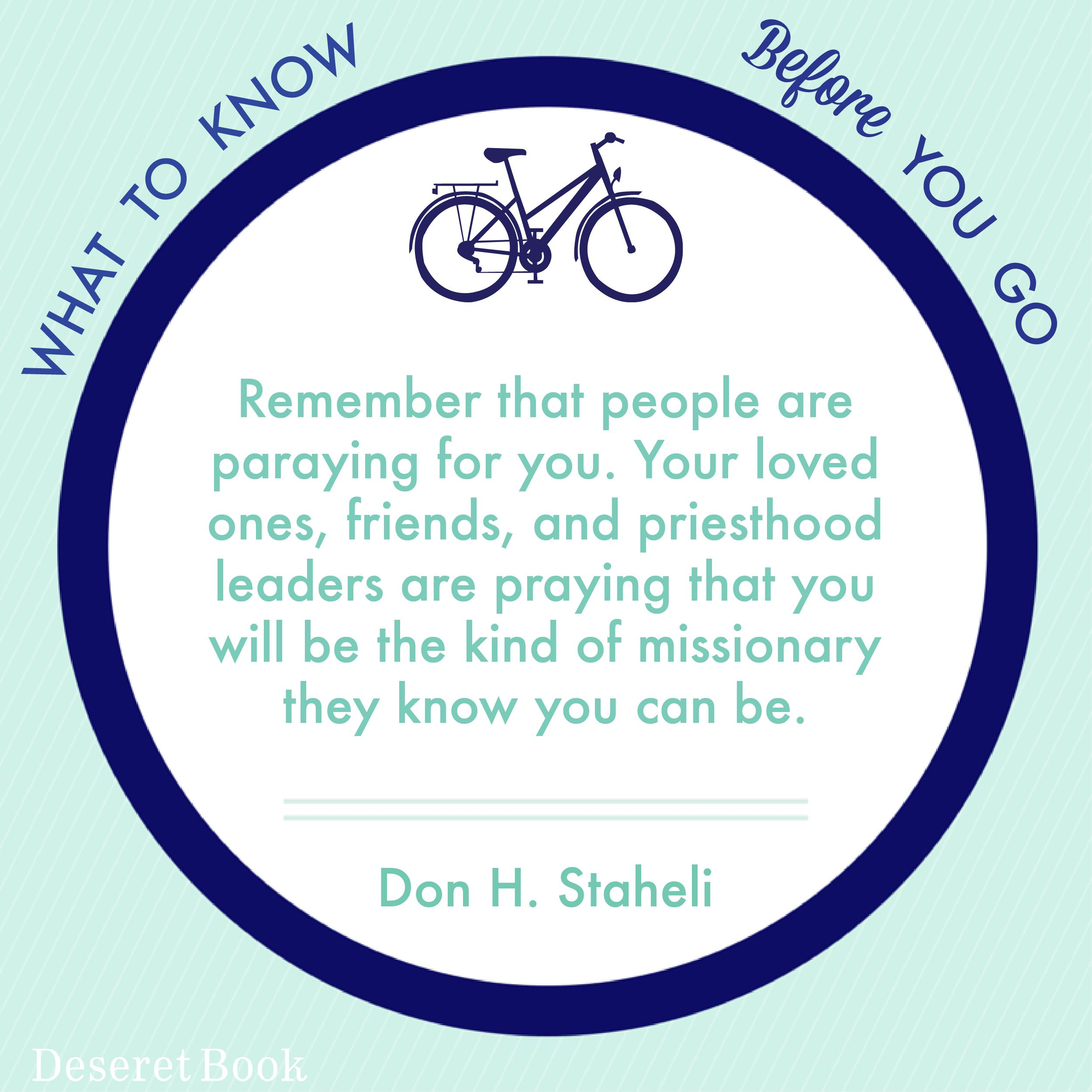 "The NEW book ""What to Know Before You Go,"" by Don H. Staheli, a former mission president, provides answers to this question. #MissionaryMonday #lds"