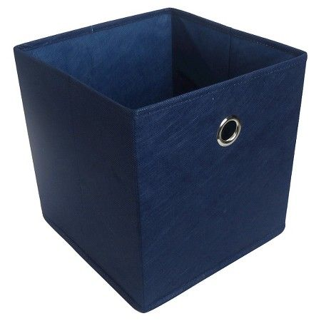 Fabric Cube Storage Bin 11 Navy Blue Room Essentials