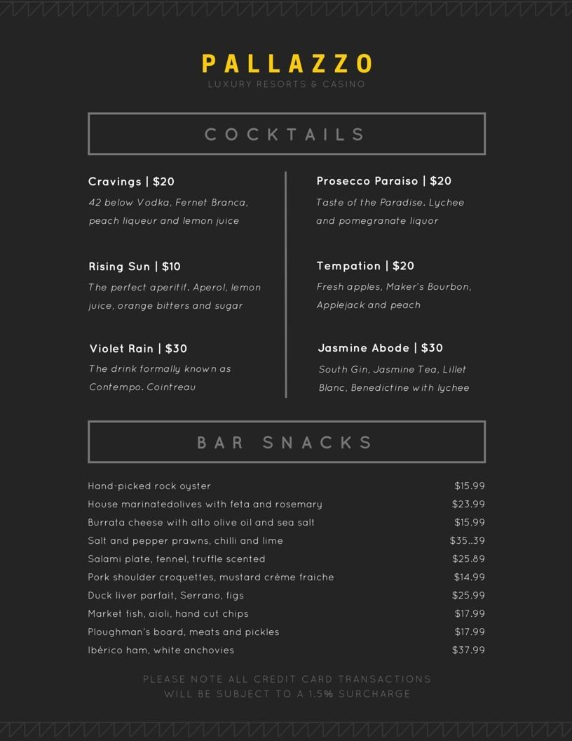 Jaimakhija I Will Design Unique Restaurant And Bar Menu For 20 On Fiverr Com Fine Dining Menu Menu Design Layout Menu Design
