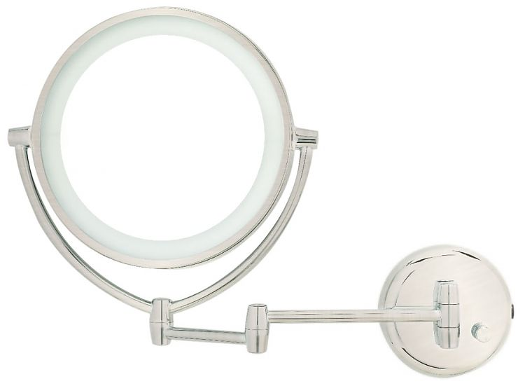 Danielle Creations 10x Satin Nickel Led Plug In Wall Mount Lighted Makeup Mirror Seattleluxe