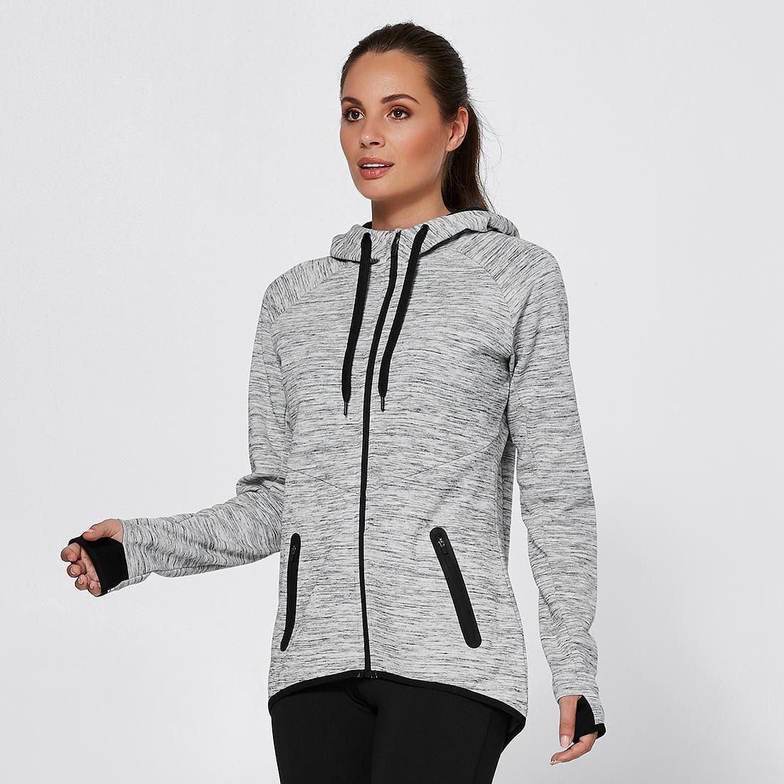 Active Tech Fleece Jacket Light Grey Marle Tech fleece