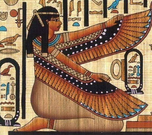 De los recuerdos de su viaje es llevar un papyro con pinturas faraonicas la diosa Isis #Egipto #Cairo #visitas #Alejandria #tour