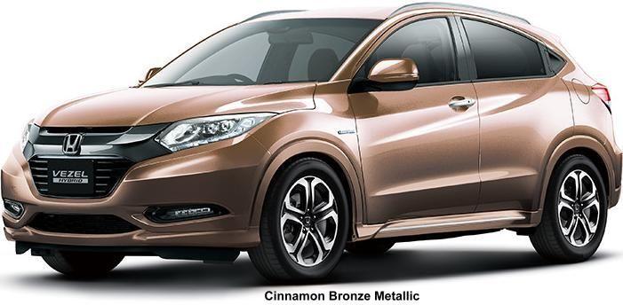New Honda Vezel Body Color Cinnamon Bronze Metallic Honda Hrv New Honda Honda