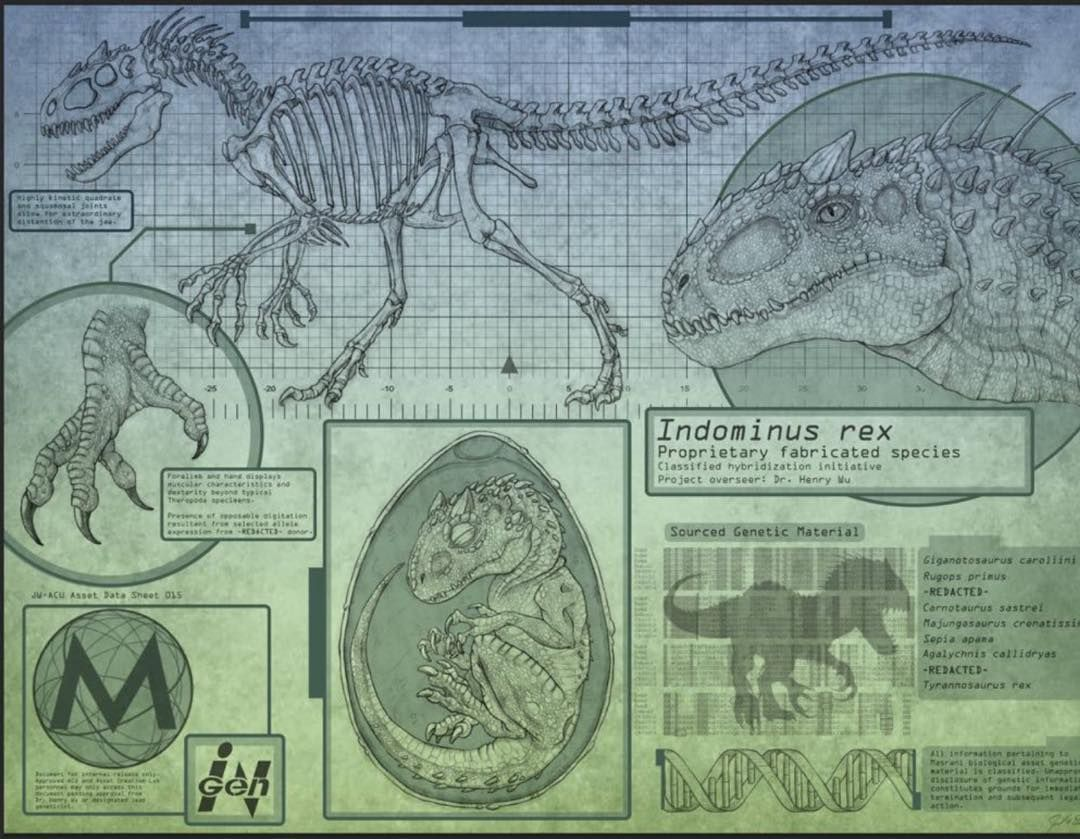 How to draw indominus rex scales jurassic world youtube -  New Jurassic World Indominus Rex Information Prints Available From Joel Davis Check Out