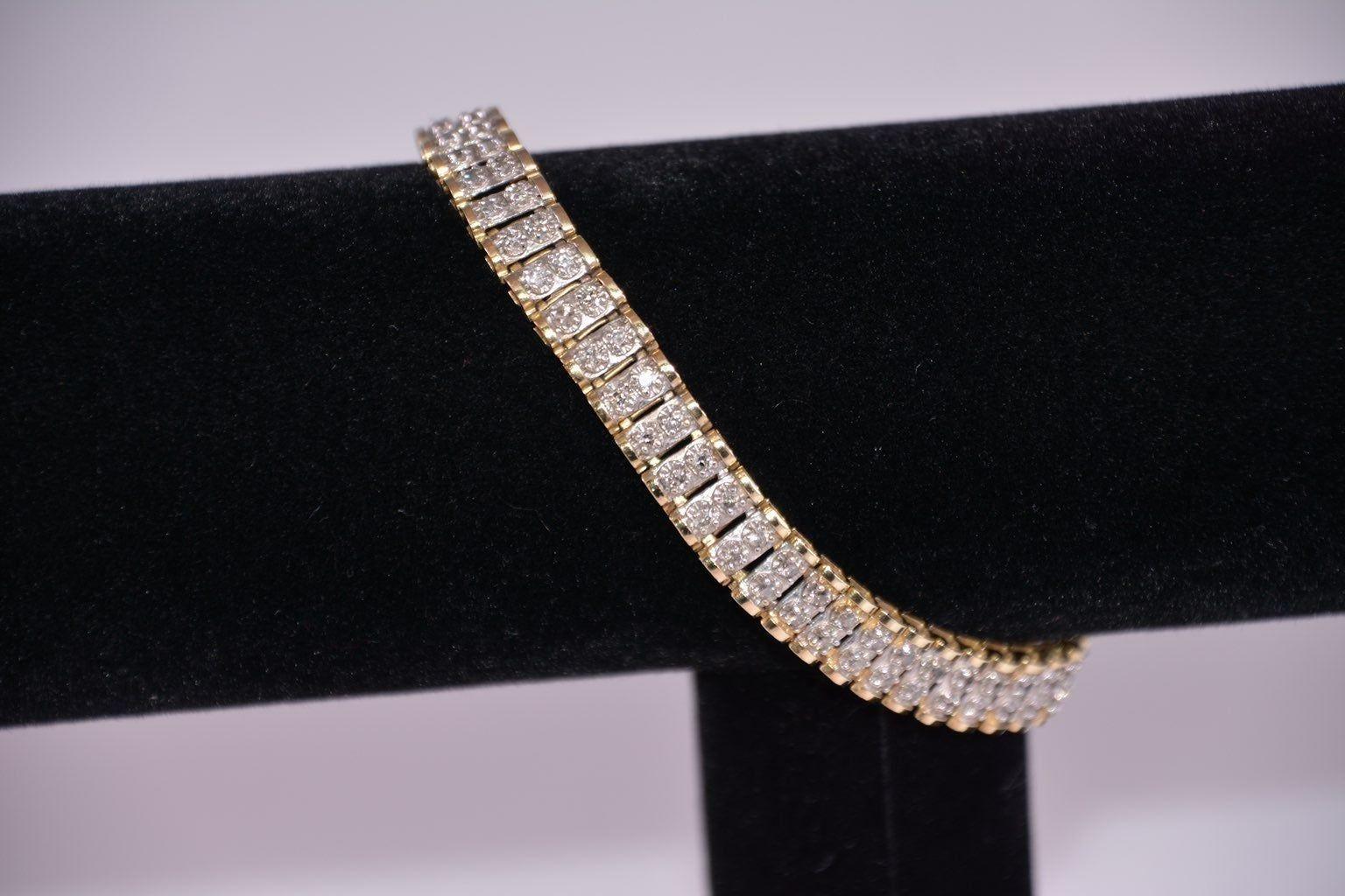 Diamond And Gold Tennis Bracelet on Mercari Amethyst