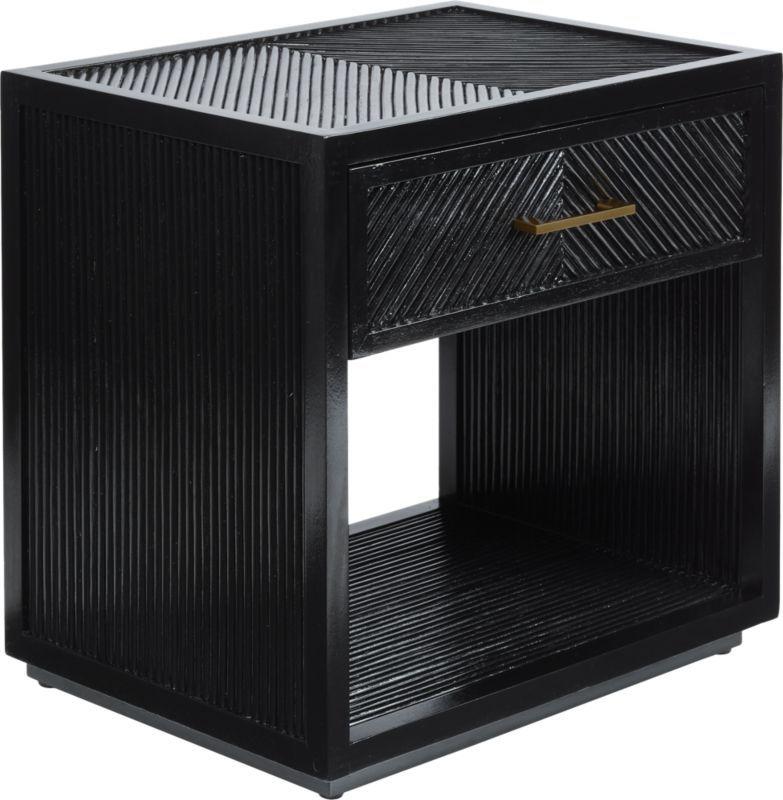 Best Carlo Black Wood Nightstand Modern Nightstand Wood 640 x 480