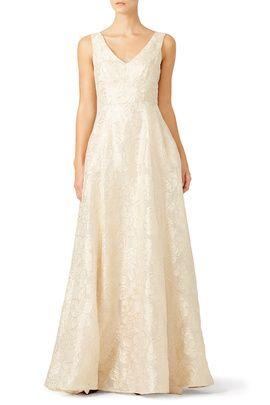 Rent the Runway metallic bridesmaid dress options