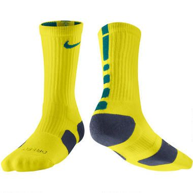 Nike Dri Fit Elite Basketball Crew Socks Size Md Neon Yellow With Navy Blue And Teal Adidas Basketball Shoes Nike Elite Socks Nike Socks
