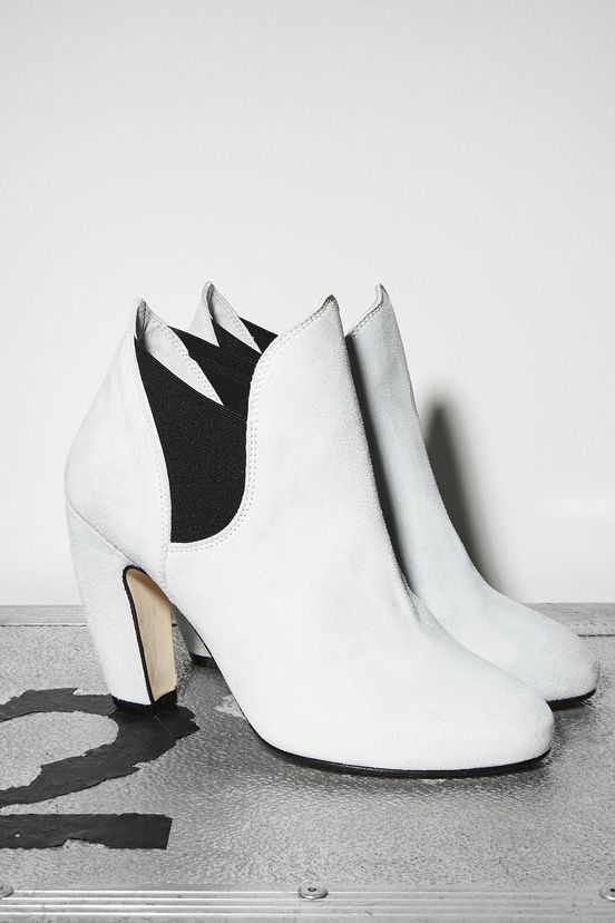 White Ankle Boot | B56
